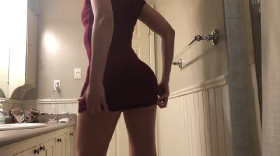 burgundy dress ass poop worship with TinaAmazon [2021 | UltraHD/4K]